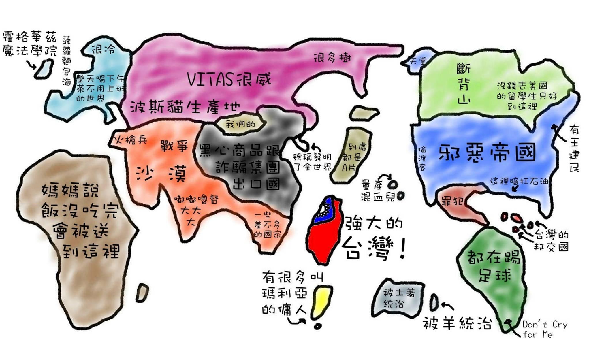 台灣人的世界地圖